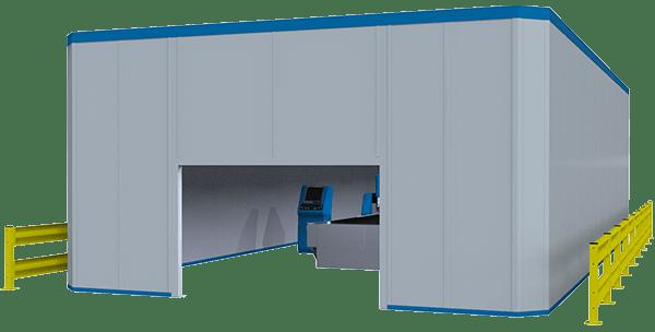 machine enclosure rendering
