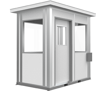5x8 guardhouse with sliding door